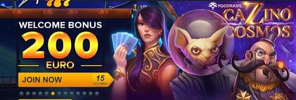 100% bonus + 200 EUR free cash + Free Spins
