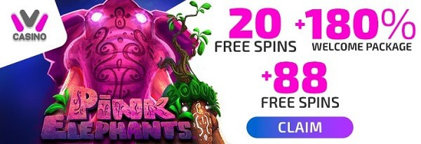 IVI Casino 20 free spins + 180% bonus up to 1,000 EUR + 88 free spins