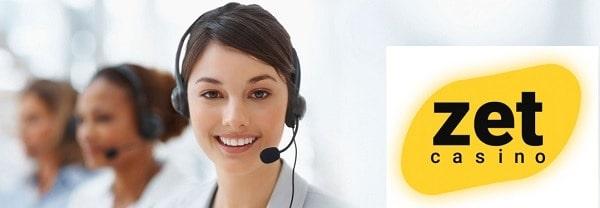 Zet Casino customer service