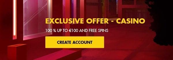 Bethard.com registration - 100 free spins and 100% welcome bonus