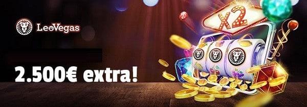 2,500 EUR welcome bonus to LeoVegas Online Casino