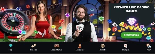 Play Live Casino - Roulette, Blackjack, Poker, Baccarat, Craps