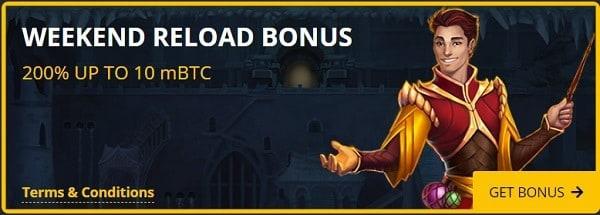 Weekend Reload Bonus on deposits