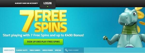LuckyDino 7 gratis spins no deposit bonus