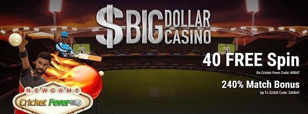 40 free spins in Big Dollar Online