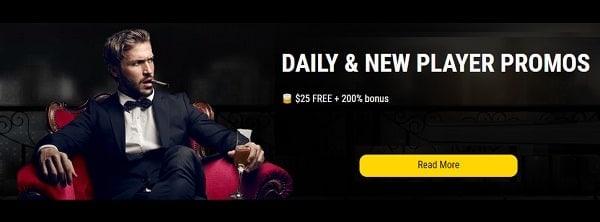 Get free casino bonuses every day!
