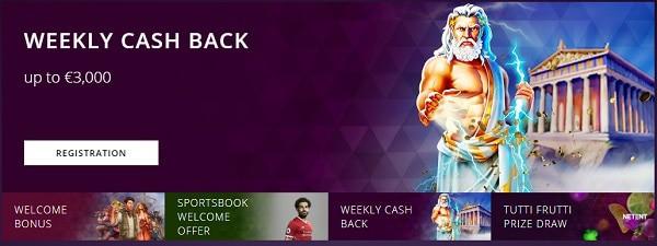 Malina cashback bonus