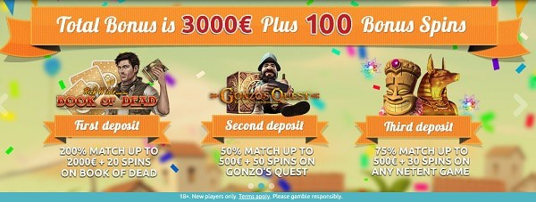 100 bonus spins for new players