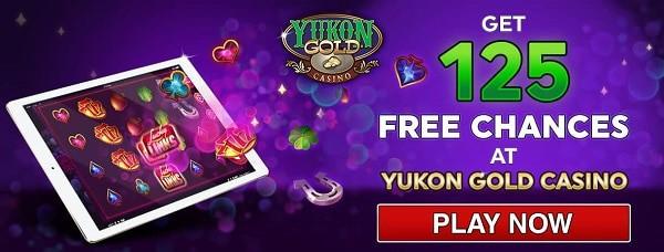 Yukon Gold Casino 125 free games