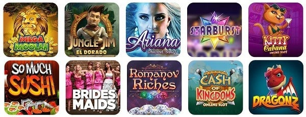 Spin Casino Games & Software