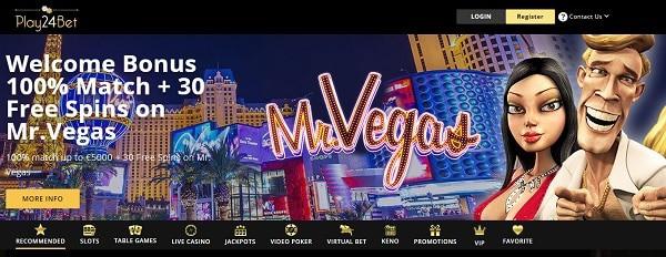 Mr Vegas slot free spins