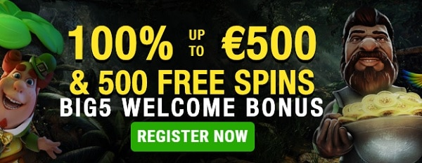 Open your account now and get 500 free rounds!