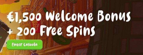 15 000 kr og 200 Free Spins velkomstbonus