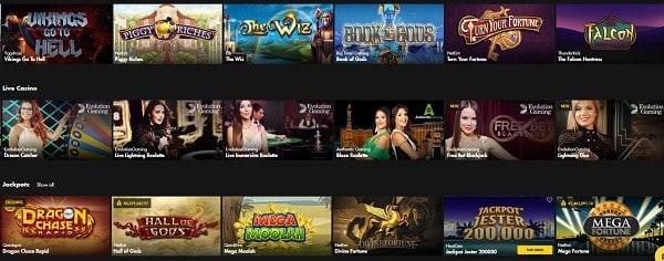 Bethard Casino free games