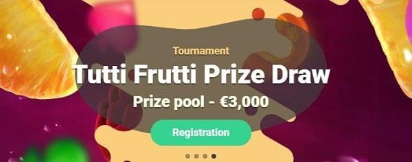 Yoyo tutti frutti prize draw