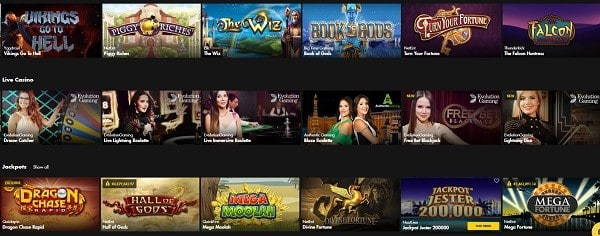 Bethard Casino games and software