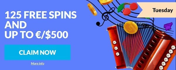 Wild Jackpots Casino 125 free spins and $500 free play bonus