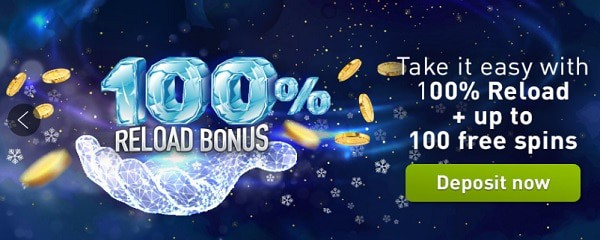 100% or 125% bonus up to 250 EUR plus 100 free spins (15 FS no deposit required)