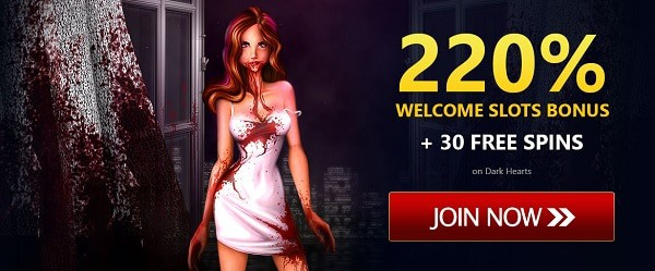 220% bonus + 30 free spins
