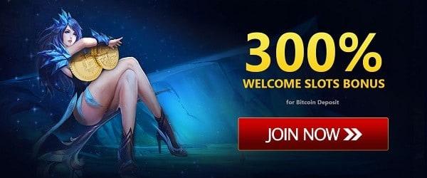 300% bonus and free spins