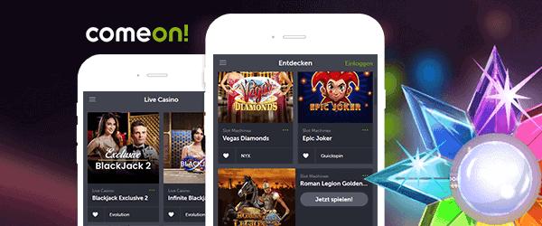 ComeOn slots and jackpot games