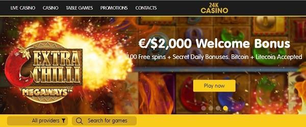 24K exclusive bonus, free spins, promotions