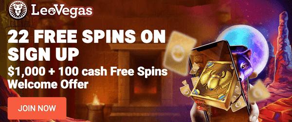 LeoVegas Canada Free Spins