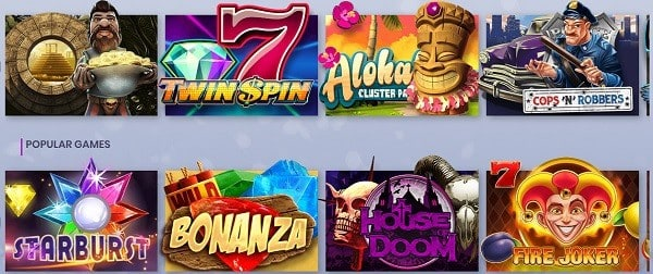 Casiplay Casino games and software providers