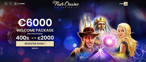 Four Crowns Casino Welcome Bonus Codes