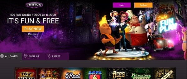 Casino free play games and big jackpots