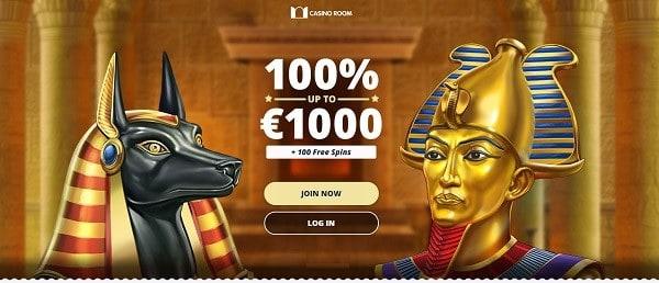 CasinoRoom.com special offer: 100 FS and 100 EUR