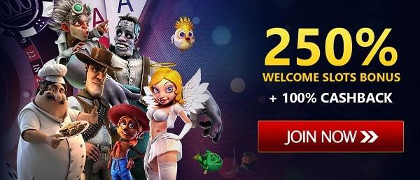250% bonus and free games