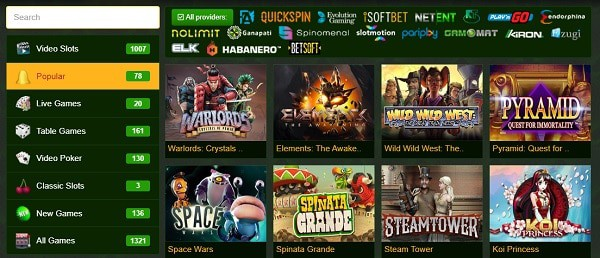 Casino Games and Software Providers