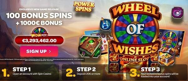Wheel of Wishes free bonus