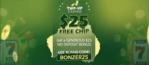 $25 FREE BONUS no deposit required