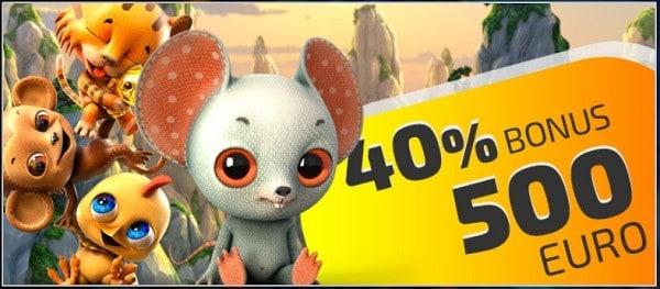 40% bonus at IVICasino