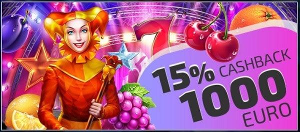 15% Cashback