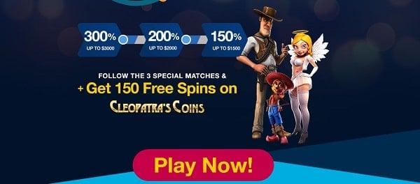 24VIPCasino.com $6500 welcome bonus