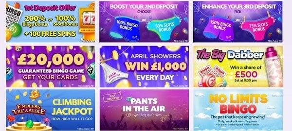 Lucky Pants Bingo promotions