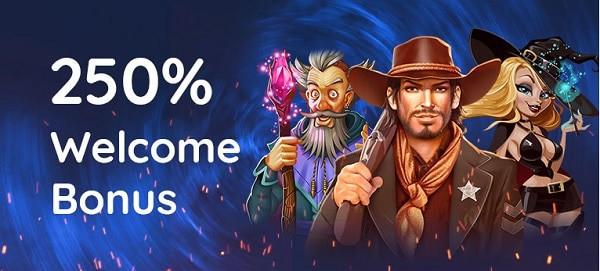 250% welcome bonus (1st deposit)