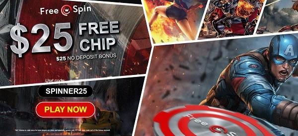 $25 free chip bonus code: SPINNER25