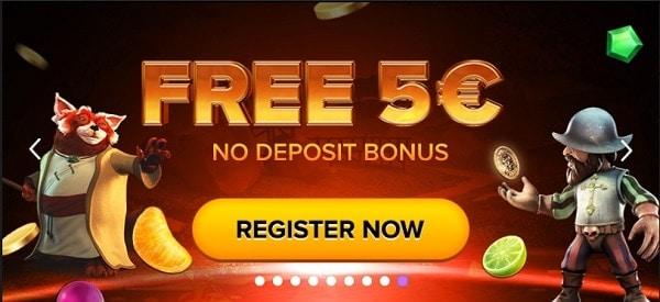 5 EUR free bonus cash