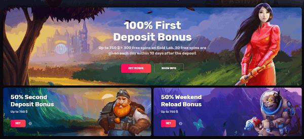 First Deposit Bonus: 100% up to 500 EUR + 300 Free Spins!