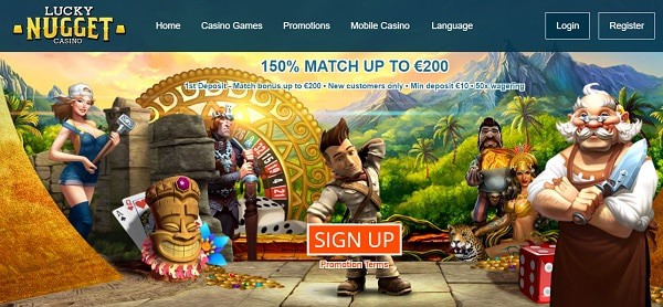 Welcome Bonus: 150% up to $200 and 350 extra spins