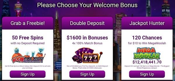 $1600 welcome bonus