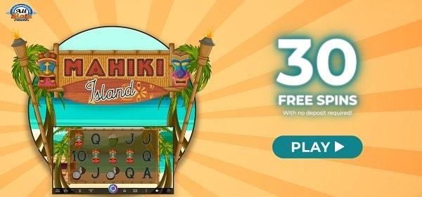 Play 30 free spins on Mahiki Island!
