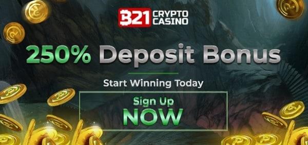 250% match bonus and $25 free cash