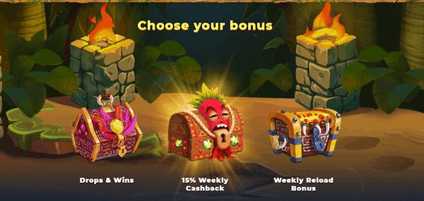 Choose Your Welcome Bonus!