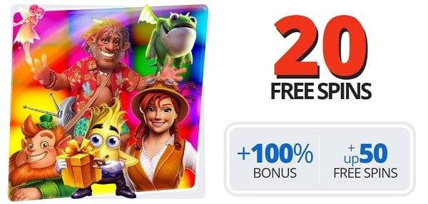 Ego 20 free spins
