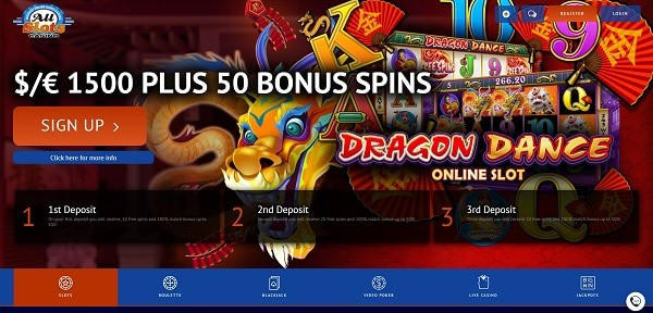 50 Microgaming Free Spins and $1500 Welcome Bonus